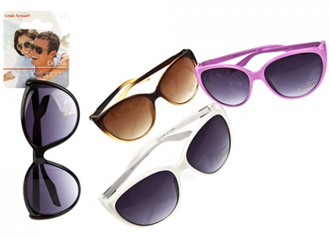 Ladies fashion plastic sunglasses