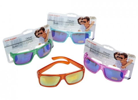 Transparent jelly mirrored sunglasses