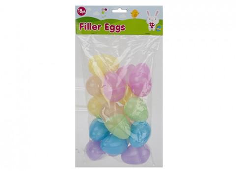 18pc 6 x 4cm sparkling filler eggs