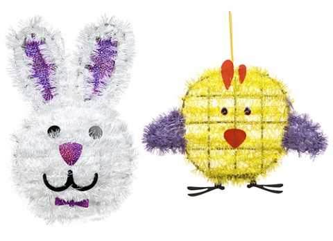Summer tinsel character  plaques
