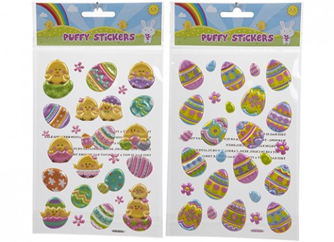 Summer puffy stickers eggs and chicks designs