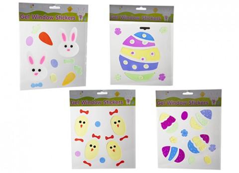 Summer design 20 x 20cm gel window stickers
