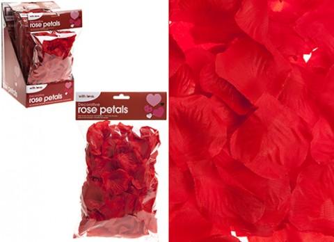 Fabric decorative rose petals