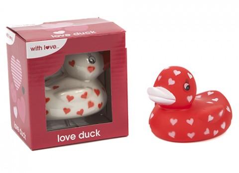 Colour heart print pvc  duck
