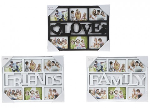 MULTI DISPLAY PHOTO FRAMES FAMILY LOVE FRIENDS COLLAGE APERTURE ...