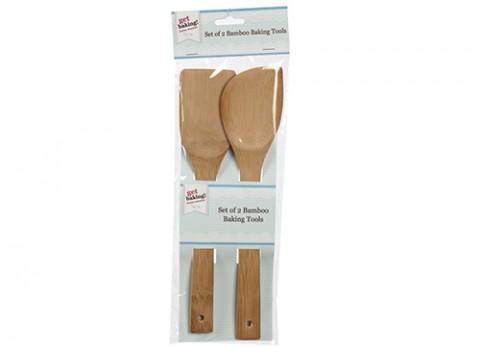 Get baking! Set of 2 bamboo baking tools