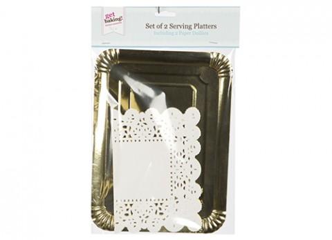 Set2 med gold platterand doilies
