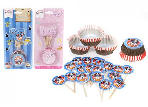 48pc pirate- fairy castle cupcake set