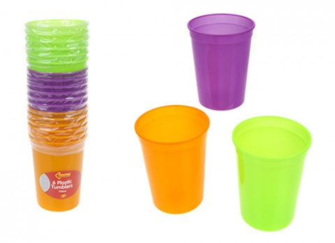 Plain colour drinking cups