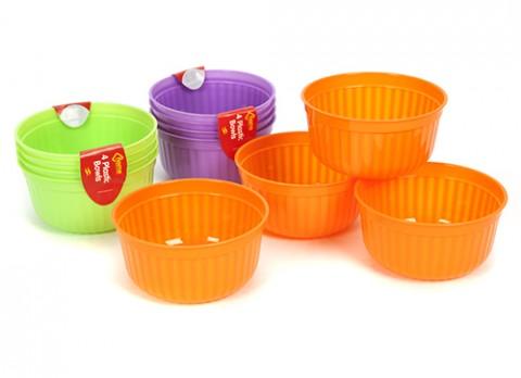 4 pc plastic bowls