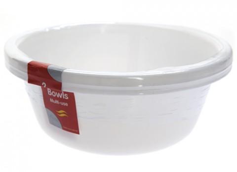 Large multi use plastic bowls