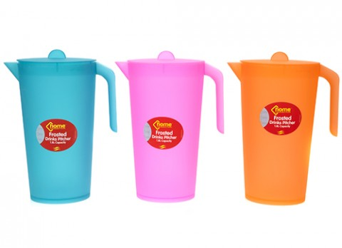 Plain colour frosted drinks pitcher