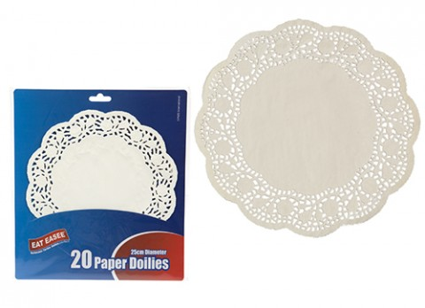 Pack of 20 paper doilies