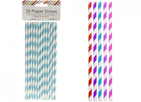 Pack of 25 paper straws