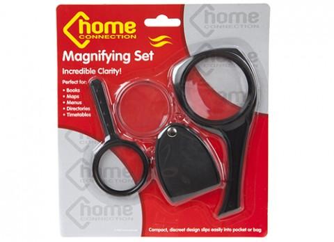 3pc asst magnifying glasses