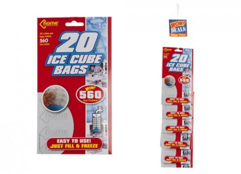 20x28pc ice cube bags - strip