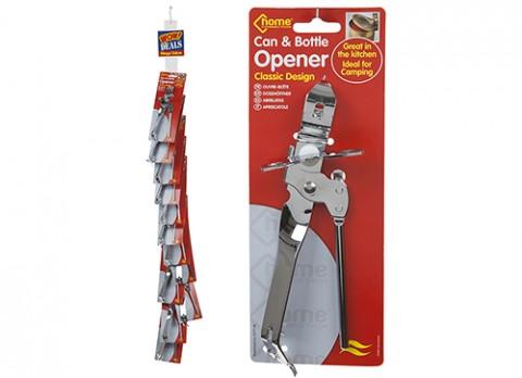 Butterfly can opener w-bottle opener in handle - strip
