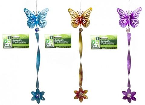 Butterfly metallic wind spinner