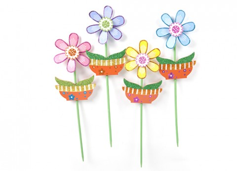 Garden flower windmill